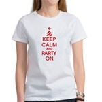 Keep Calm And Party On Women's T-Shirt