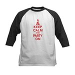 Keep Calm And Party On Kids Baseball Jersey