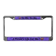 Cute Pirate life License Plate Frame