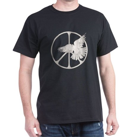 Peace Sign Dove Men's Dark T-Shirt