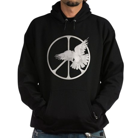 Peace Sign Dove Men's Dark Hoodie