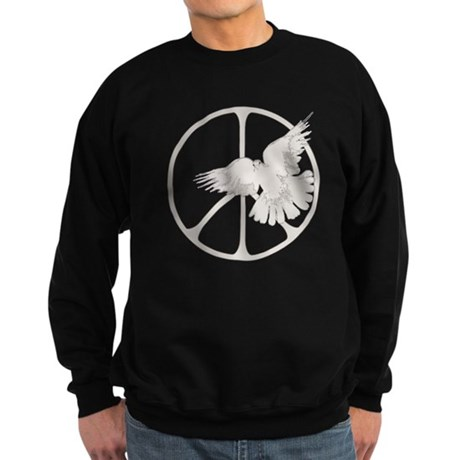 Peace Sign Dove Men's Dark Sweatshirt