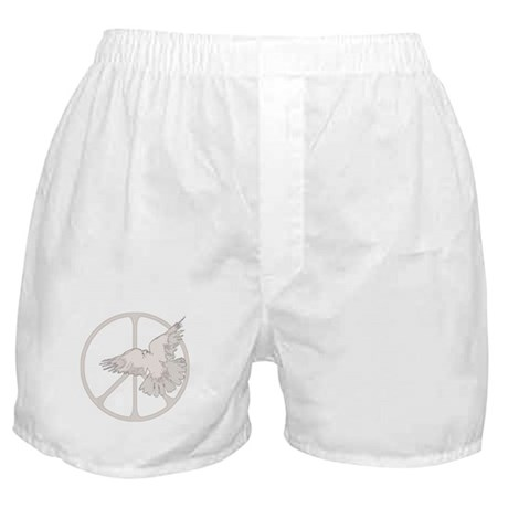 Peace Sign Dove Boxer Shorts