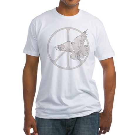 Peace Sign Dove Men's Fitted T-Shirt
