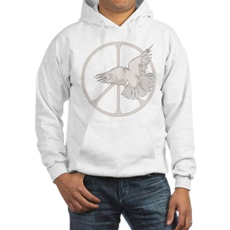 Peace Sign Dove Men's Hooded Sweatshirt