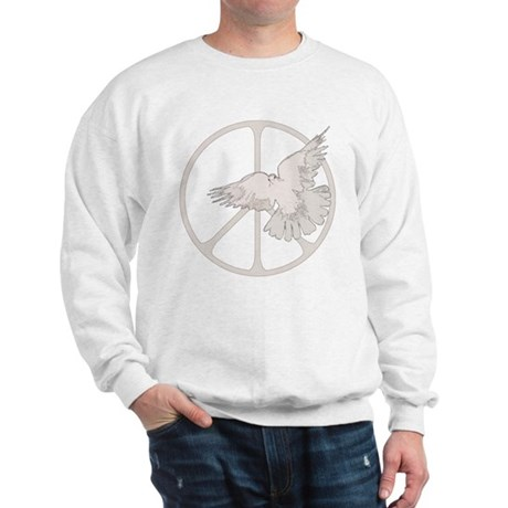 Peace Sign Dove Men's Sweatshirt