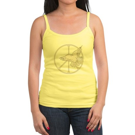 Peace Sign Dove Junior Spaghetti Tank