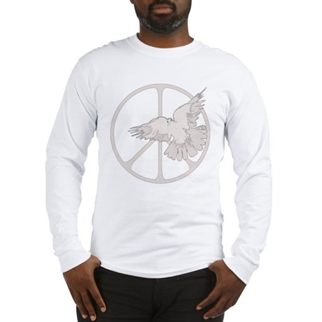 Peace Sign Dove Men's Long Sleeve T-Shirt