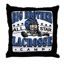 Big Brother Lacrosse Blue Throw Pillow