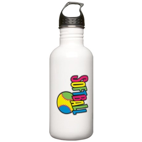 Girls Softball Stainless Water Bottle 1.0L
