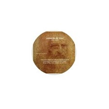 Wisdom Leonardo da Vinci Mini Button (100 pack)