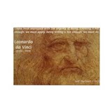 Wisdom Leonardo da Vinci Rectangle Magnet