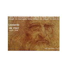 Wisdom Leonardo da Vinci Rectangle Magnet (100 pac