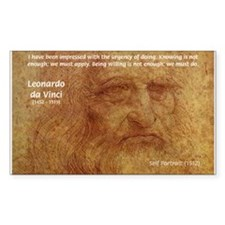 Wisdom Leonardo da Vinci Rectangle Decal