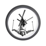 Freestyle Skiing Wall Clock