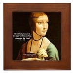 Leonardo da Vinci Pleasure Framed Tile