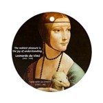 Leonardo da Vinci Pleasure Ornament (Round)
