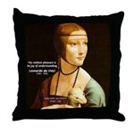 Leonardo da Vinci Pleasure Throw Pillow
