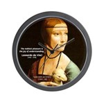 Leonardo da Vinci Pleasure Wall Clock