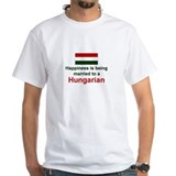 Happily Married To A Hungarian Shirt