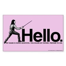 Princess Bride Inigo Montoya Decal