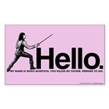 Princess Bride Inigo Montoya Stickers