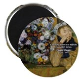 Degas Difficulty of Painting 2.25&quot; Magnet (10 pack