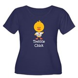 I Heart Spock Trekkie Chick Women's Plus Size Scoo