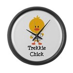 I Heart Spock Trekkie Chick Large Wall Clock