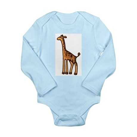 Giraffe Long Sleeve Infant Bodysuit