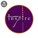 "Social Workers Inspire3.5"" Button (10 pack)"