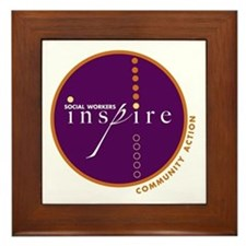 Social Workers Inspire Framed Tile
