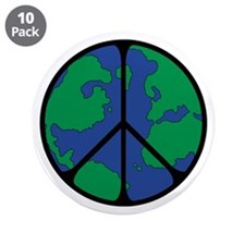 "Global Peace Sign 3.5"" Button (10 pack)"