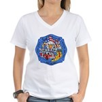 Rapid City Fire Department Women's V-Neck T-Shirt