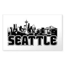 Seattle Skyline Bumper Stickers