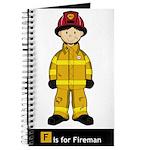 Cute Fireman Journal