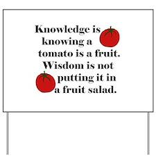 Tomato Fruit Salad Yard Sign