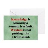 Tomato Knowledge Greeting Cards (Pk of 10)