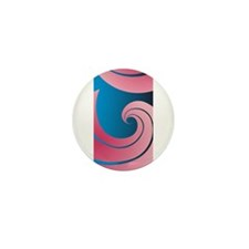 Big Pink Wave Mini Button (100 pack)