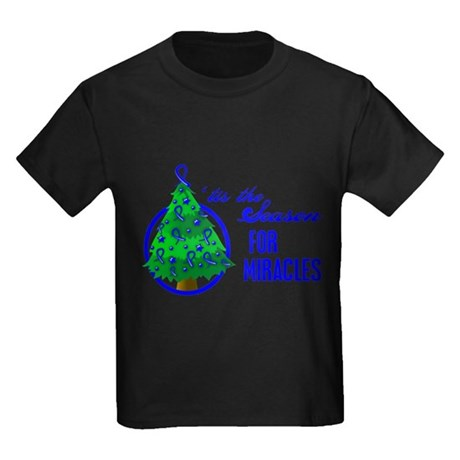SeasonMiraclesCancer Kids Dark T-Shirt