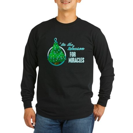 SeasonMiraclesCancer Long Sleeve Dark T-Shirt