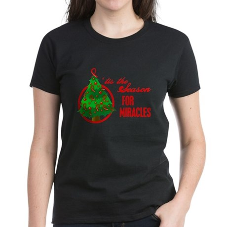 Blood Cancer Christmas Women's Dark T-Shirt