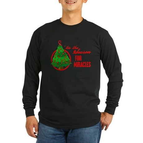Blood Cancer Christmas Long Sleeve Dark T-Shirt