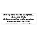 Double standard for Congress