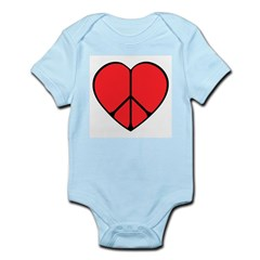 Peace Sign Heart Infant Bodysuit
