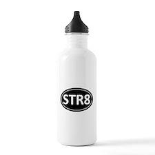 STR8 Black Euro Oval Water Bottle