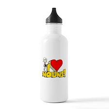 I Heart Nouns Sports Water Bottle