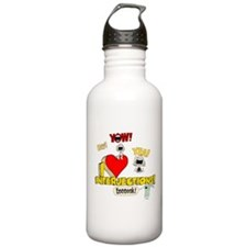 I Heart Interjections Sports Water Bottle