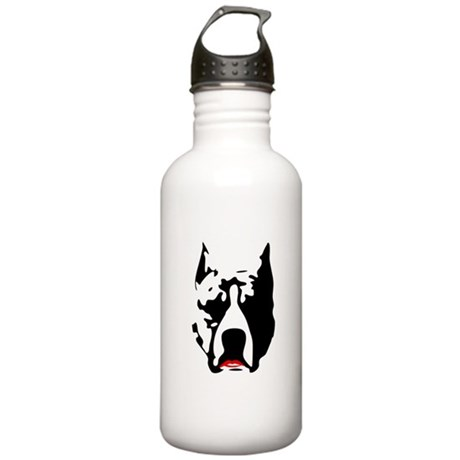 Pit Bull with L Stainless Water Bottle 1.0L