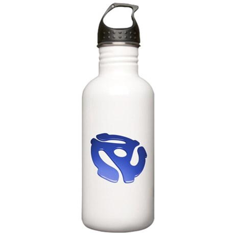 Blue 3D 45 RPM Adapter Stainless Water Bottle 1.0L